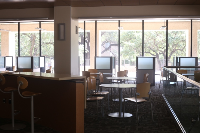 The Moody College of Communications Study Area at The University of Texas at Austin