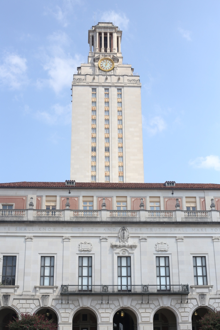 The Main Building (also known as The Tower) at The University of Texas at Austin.