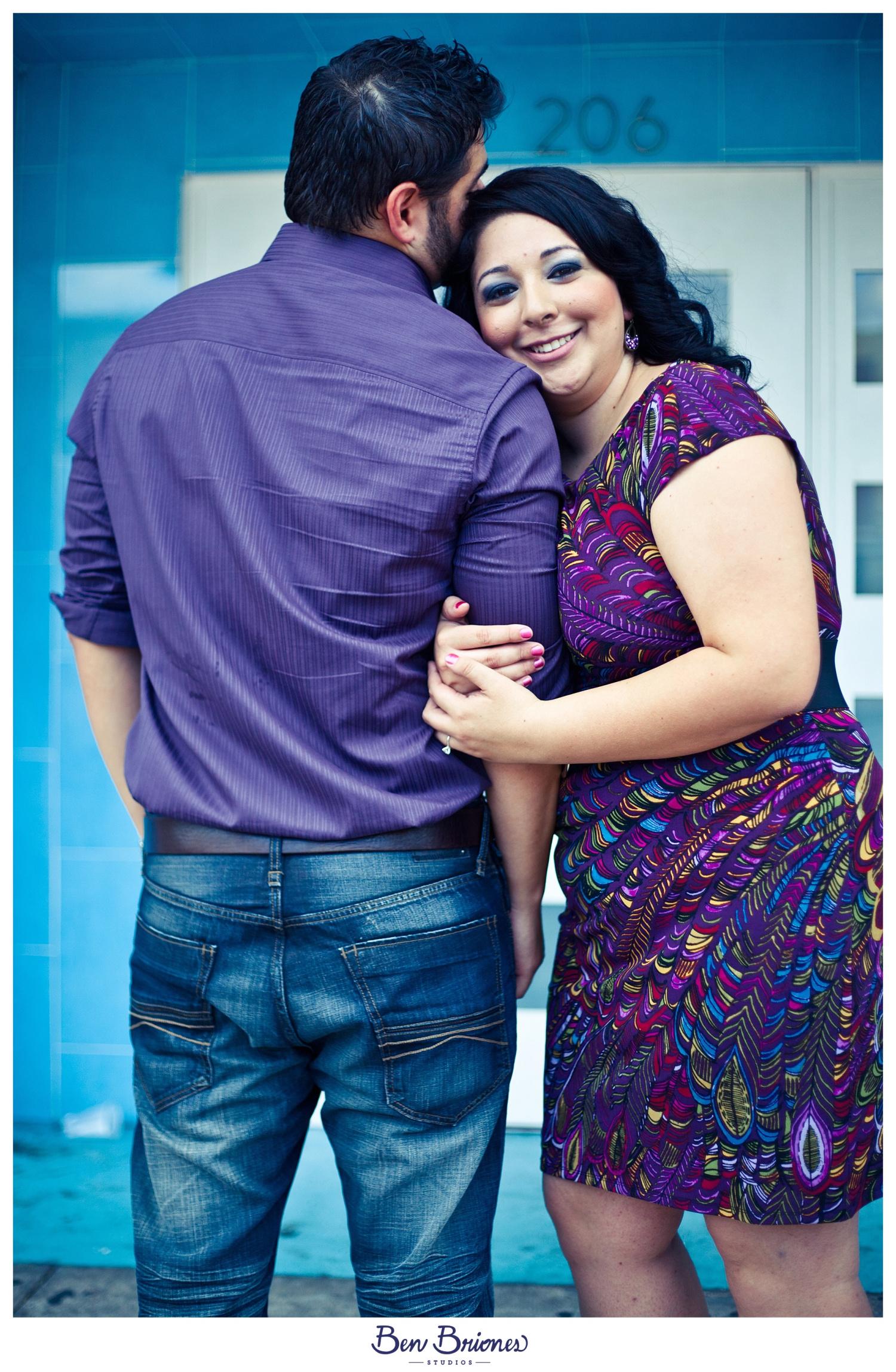 Purple, matching, couple